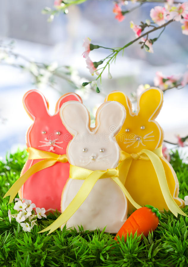 Download Easter bunny cookie stock photo. Image of carrot, different - 18219896