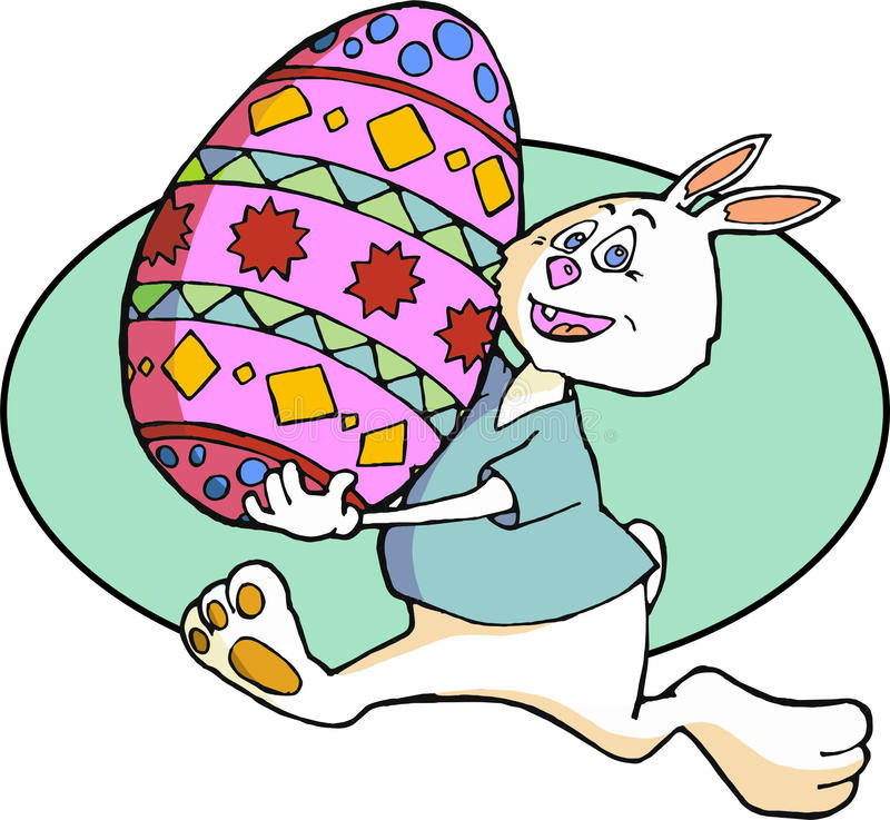 Download Easter Bunny With Decorated Egg Stock Vector - Illustration of large, hare: 85787659