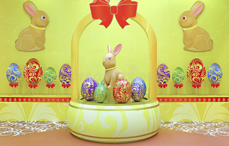 Easter bunny decoration royalty free stock photo