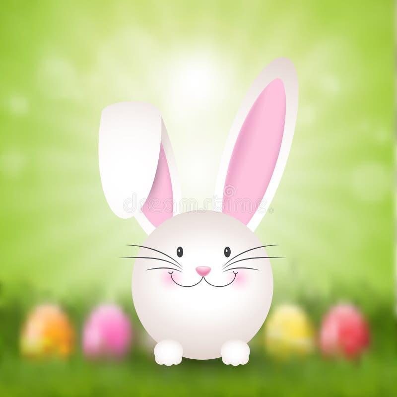 Easter bunny background stock illustration