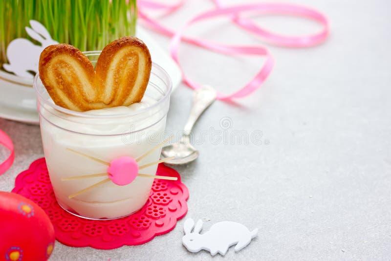 Easter bunny dessert stock photography