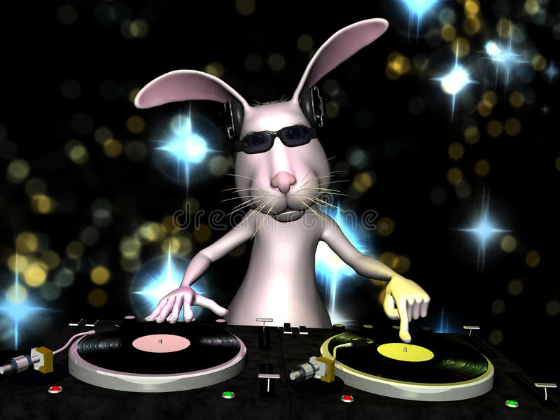 Easter Bunny DJ stock illustration