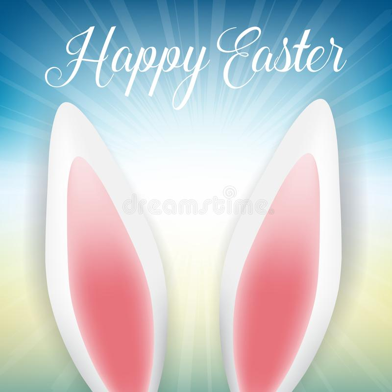 Free Easter Bunny Ears On A Starburst Background Stock Photos - 111760233