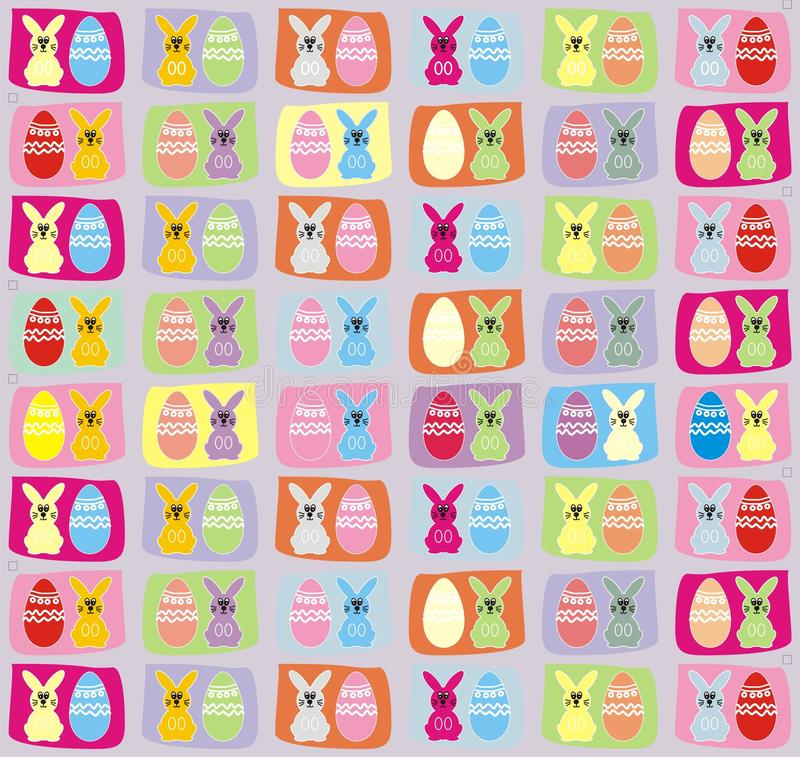 Download Easter Bunny And Egg Pattern Background Stock Vector