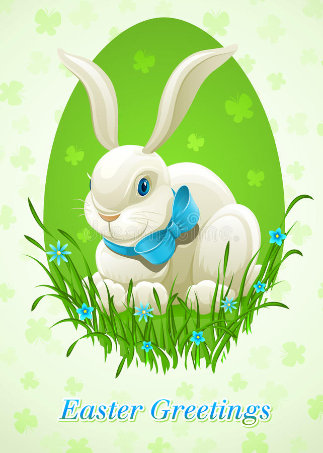 Easter bunny in egg vector illustration