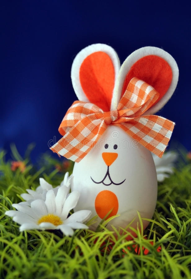 Easter bunny egg stock images