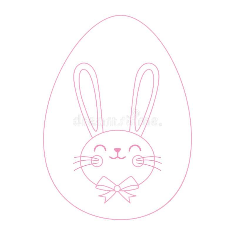 Easter bunny with Egg Hunt vector illustration