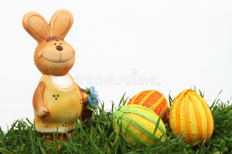Download Easter bunny and eggs stock photo. Image of white, smile - 13214308