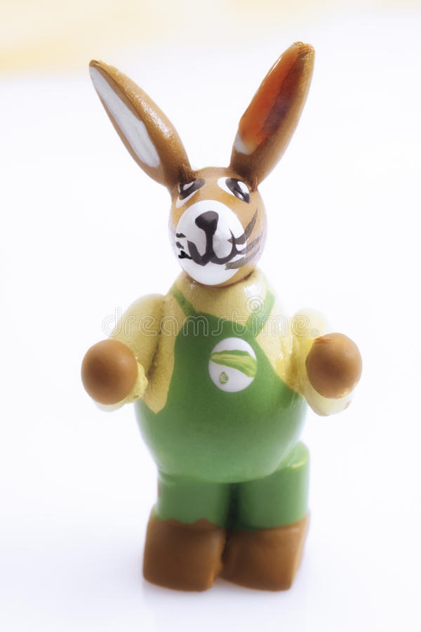 Easter bunny figurine royalty free stock photo