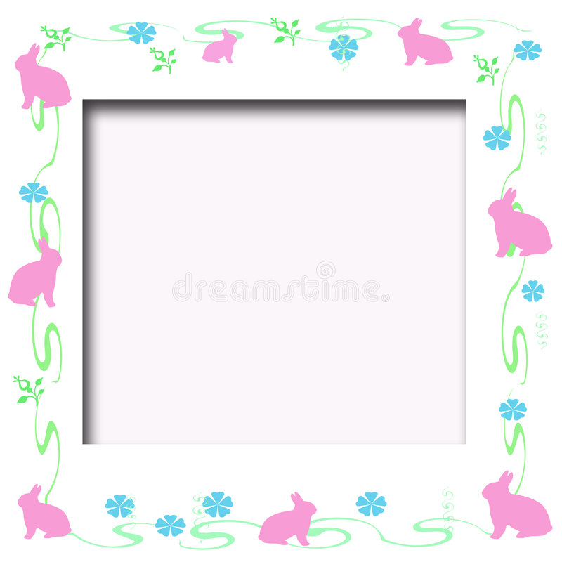 Free Easter Bunny Frame Royalty Free Stock Photo - 3956125