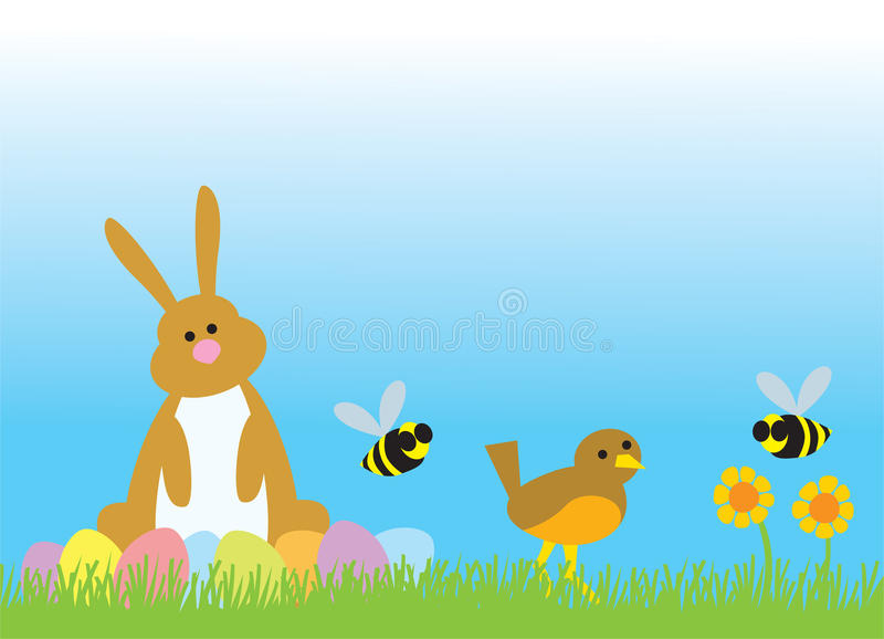 Easter Bunny And Friends Stock Images