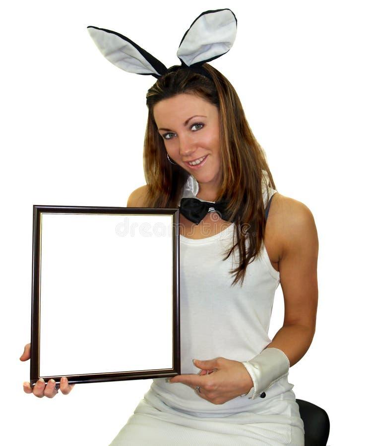 Easter bunny girl stock photography