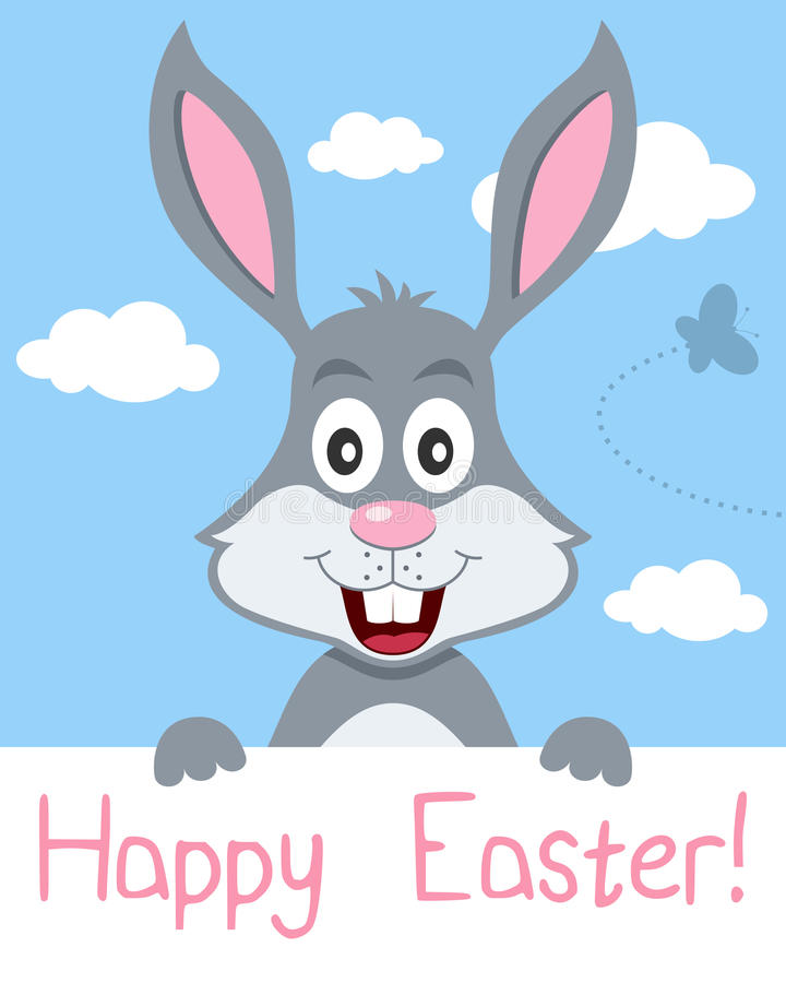 Easter Bunny Greeting Card royalty free illustration