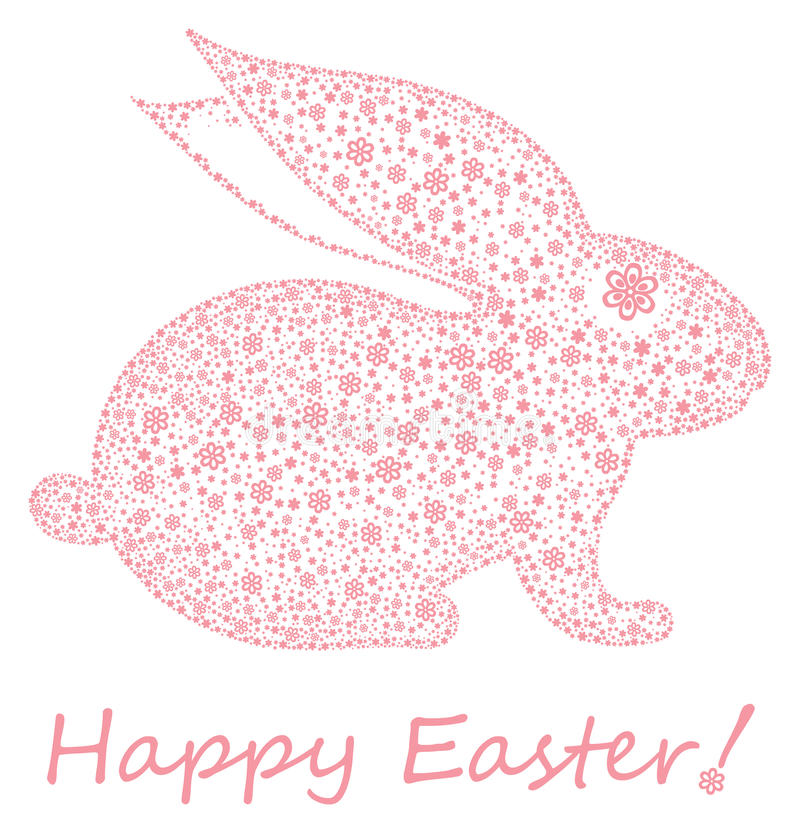 Easter bunny. Happy Easter! vector illustration