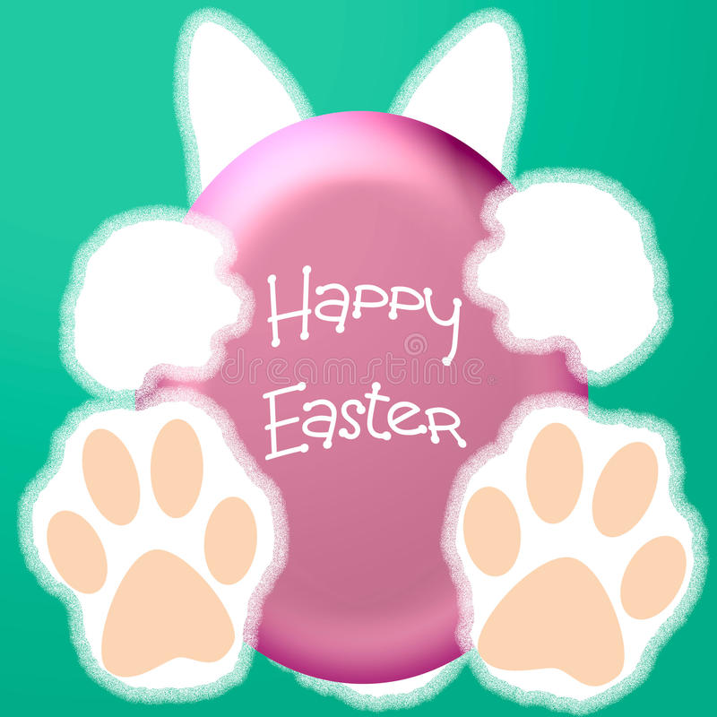 Download Easter bunny hello stock illustration. Image of poster - 28855393