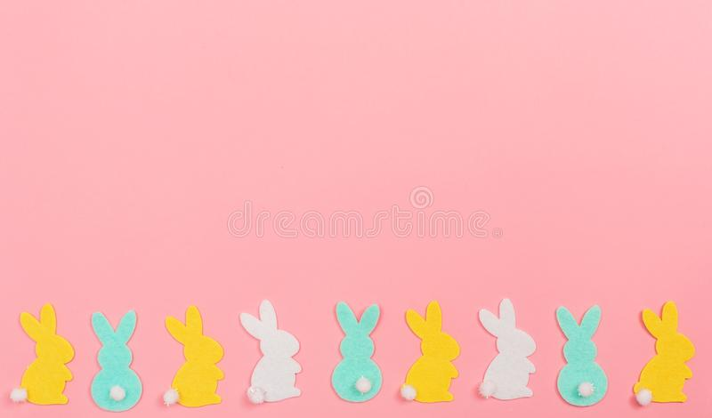 Easter bunny holiday theme royalty free stock photography
