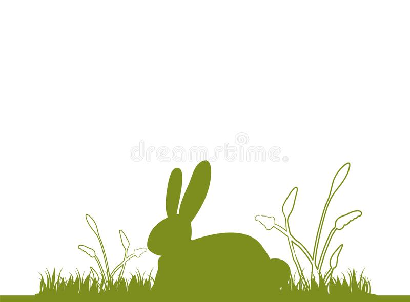 Easter bunny on meadow. Happy Easter stock images