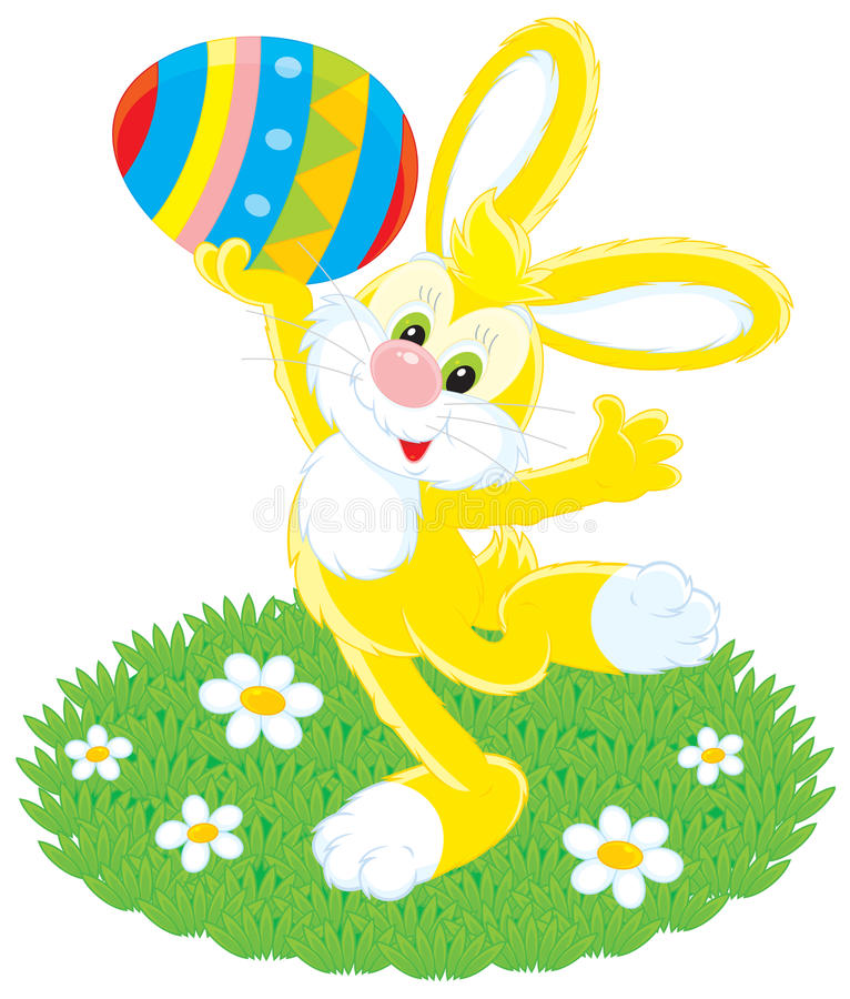 Download Easter Bunny And Painted Egg Stock Vector - Illustration of illustration, hare: 23650771
