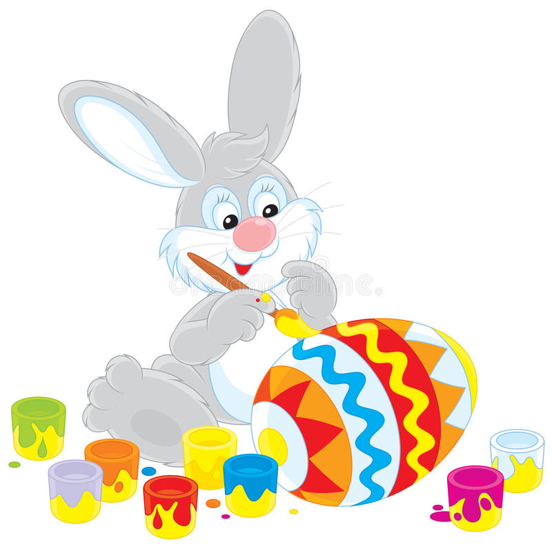 Download Easter Bunny painter stock vector. Illustration of hare - 29343986