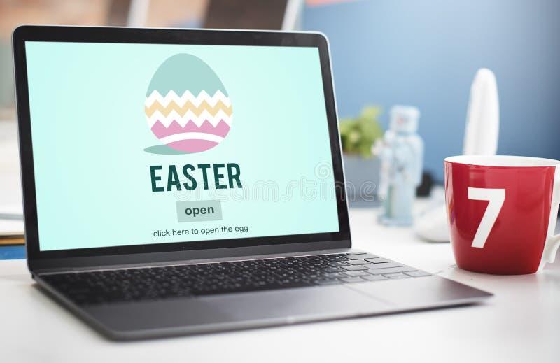 Easter Bunny Rabbit Spring Season Tradition Egg Concept stock photos