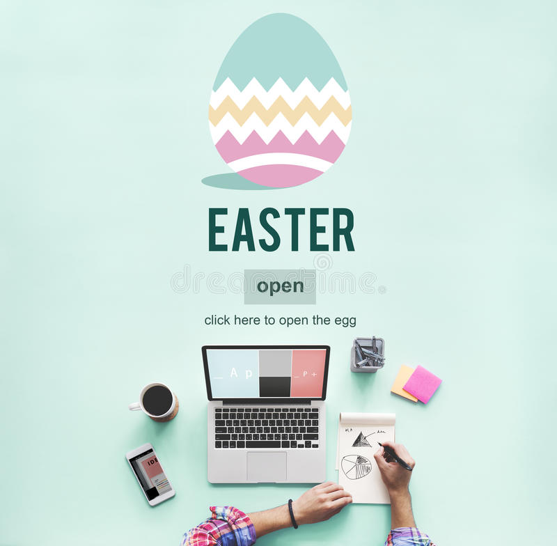 Easter Bunny Rabbit Spring Season Tradition Egg Concept stock images