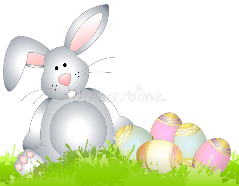 Download Easter Bunny Spring Grass Eggs Stock Illustration