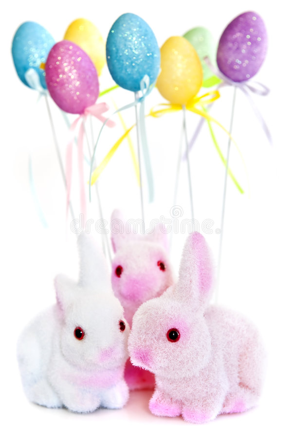 Easter Bunny Toys Stock Photo