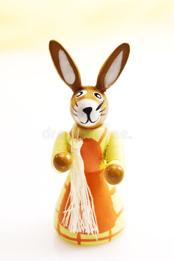 Easter bunny wife figure stock images