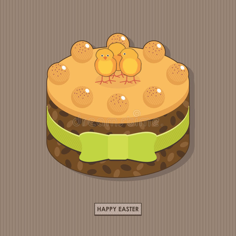 Download Easter cake stock vector. Illustration of feather, simnel - 19053445