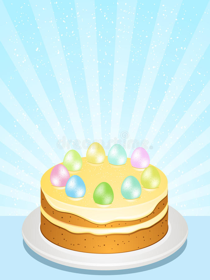 Download Easter cake stock vector. Illustration of icing, green - 20902254