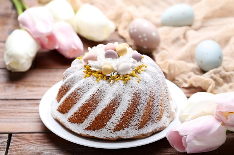 Easter cake with eggs stock image