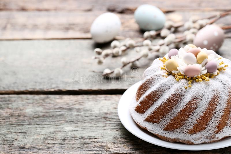 Easter cake with eggs royalty free stock photos