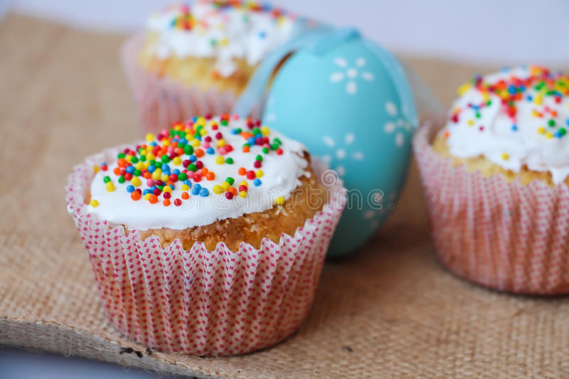 Easter cake with holiday decoration royalty free stock image