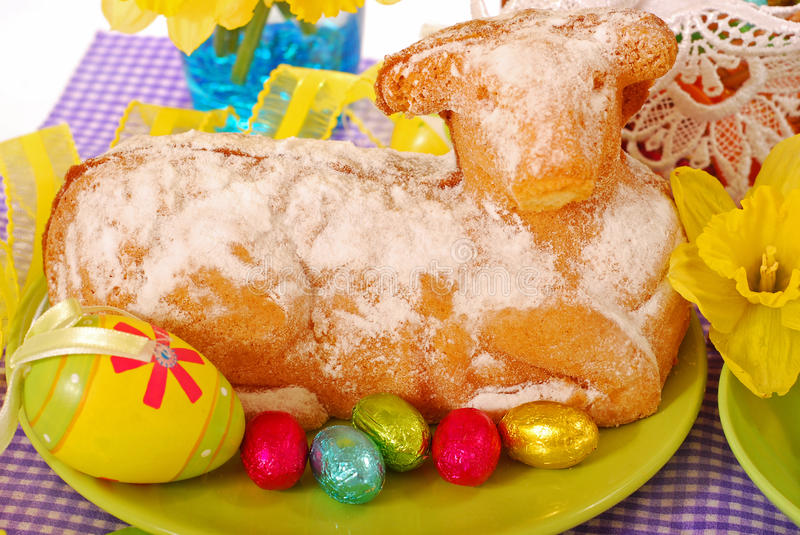 Easter Cake In The Shape Of Lamb Stock Image