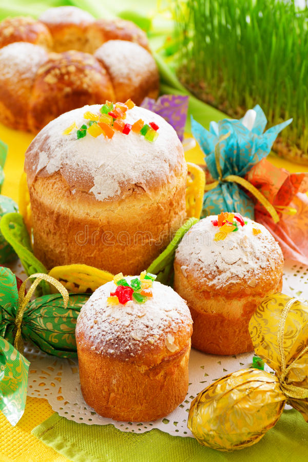 Easter cakes stock photos