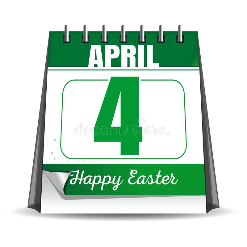 Easter calendar. Catholic Easter 2018 vector illustration