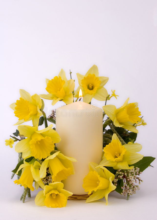 Easter candle stock image
