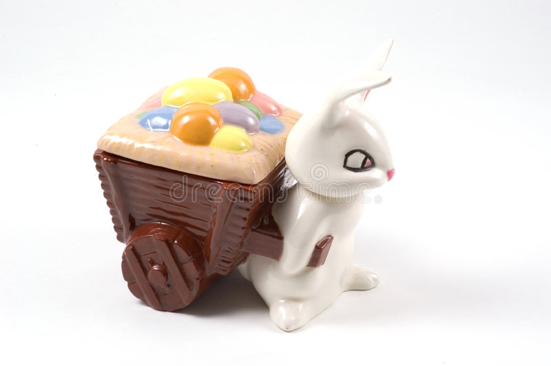 Easter Candy Dish stock photography