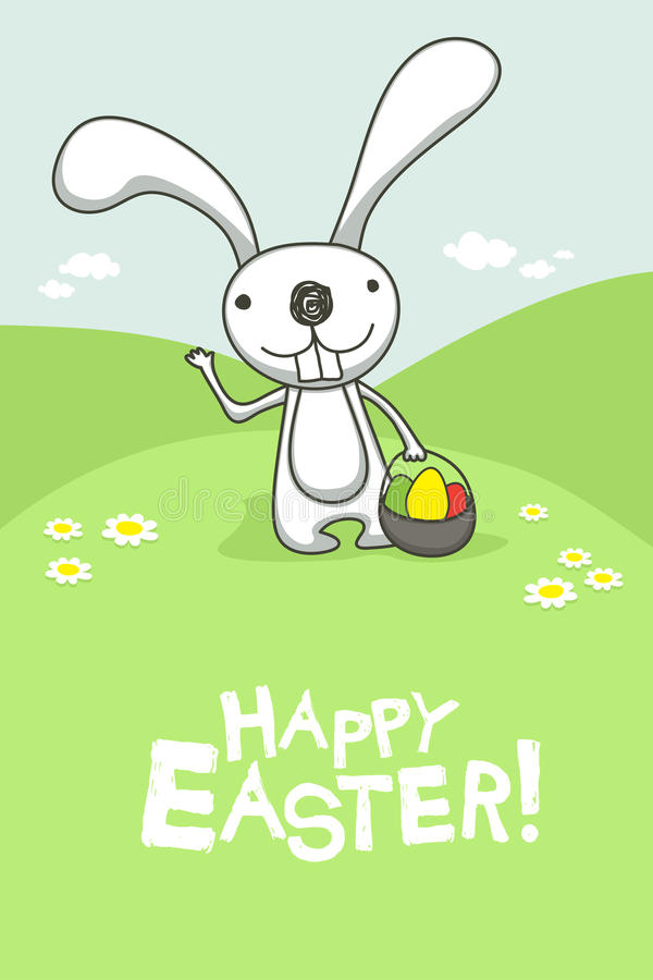 Download Easter card stock vector. Image of bucket, funny, comic - 23376300