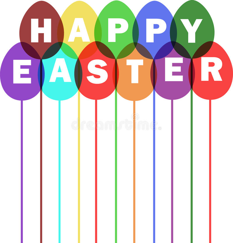 Download Easter card with balloons stock vector. Illustration of image - 39503471