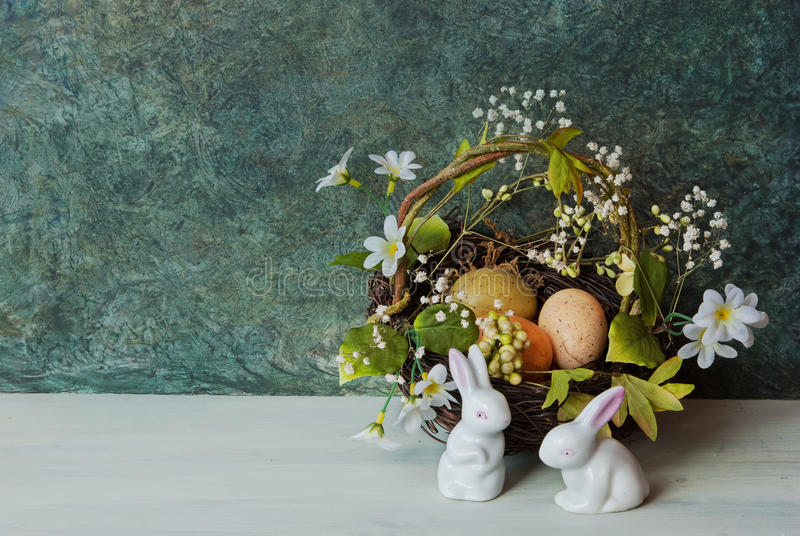 Download Easter card with bunny stock photo. Image of festive - 89341890
