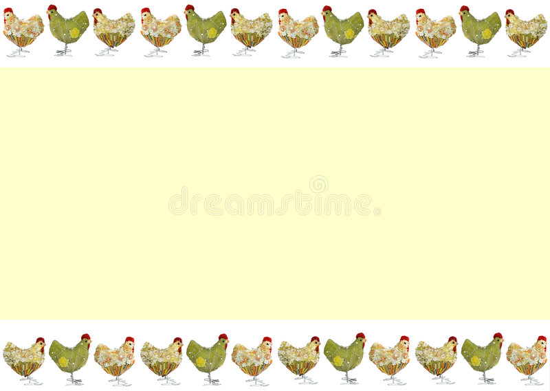 Easter card with chickens royalty free stock photography