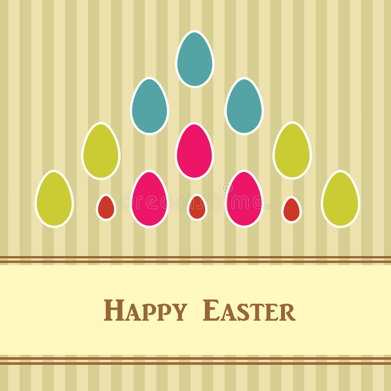 Easter card with colorful eggs vector illustration