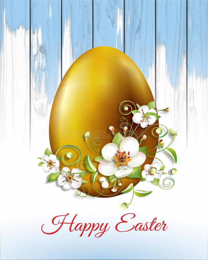 Easter card with Easter eggs stock illustration