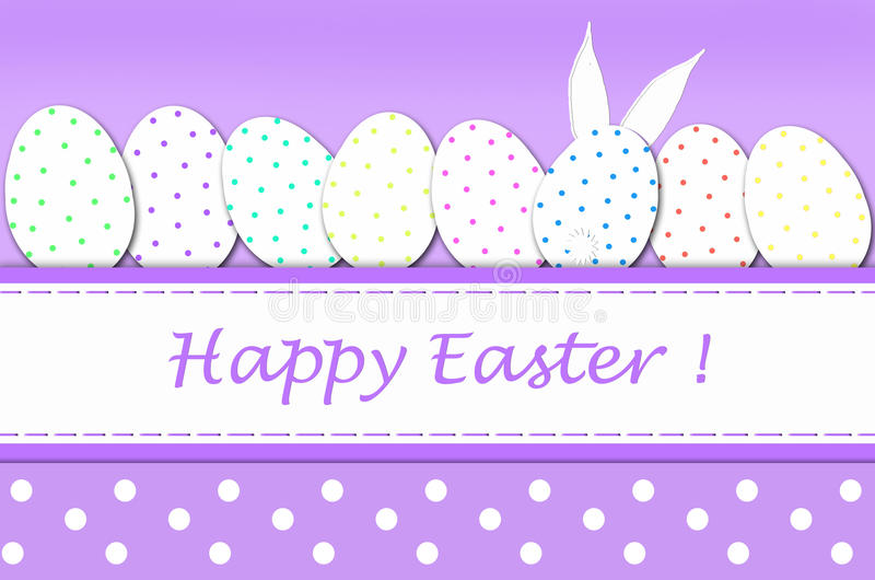 Download Easter Card With Eggs In Dots Stock Illustration - Illustration: 28703873