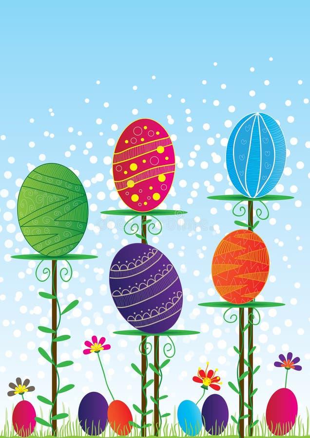 Easter Card_eps colorido ilustração stock