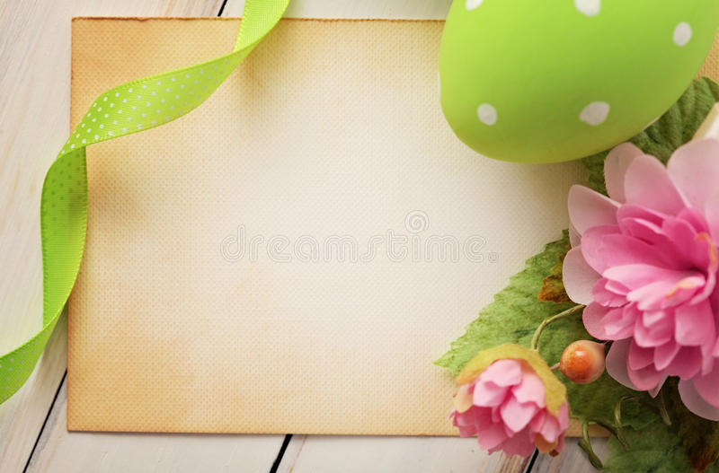 Easter card. Easter greeting card, frame background stock image