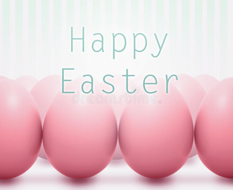 Easter card with pink eggs royalty free stock photo