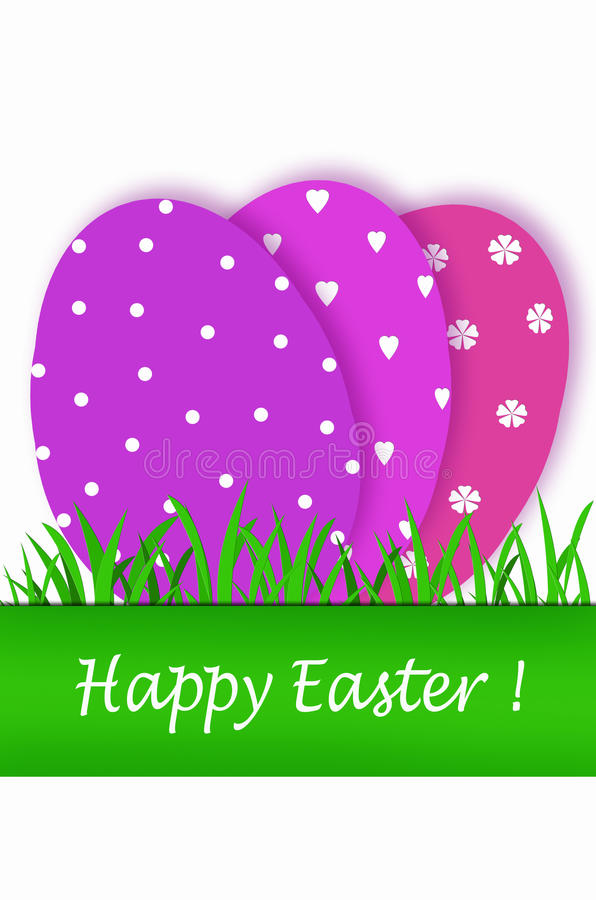 Download Easter Card With Purple Tones Eggs Stock Illustration - Illustration: 28703876