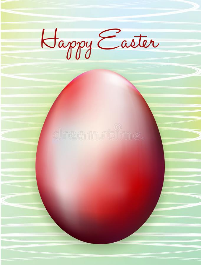 Easter card with Easter eggs royalty free illustration